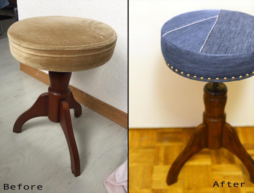 Avant et après tabouret