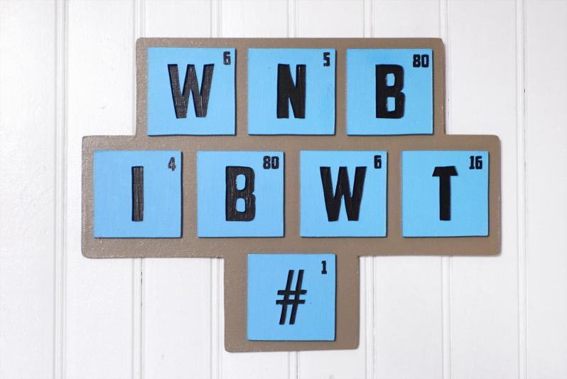 WNB lettrage scrabble