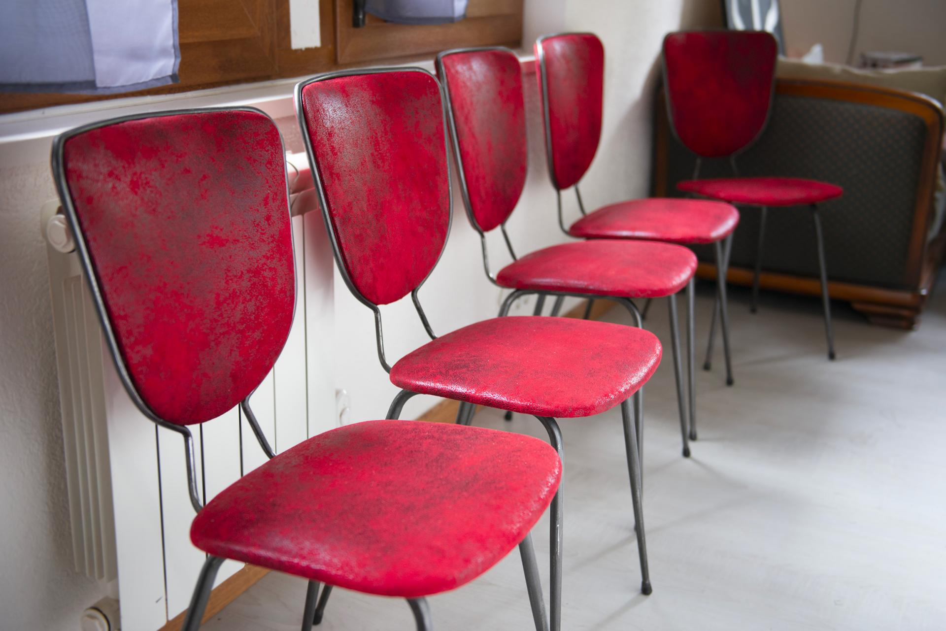 Restauration de 5 chaises